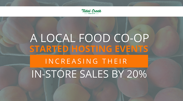 A Local Food Co-Op Started Hosting Events Increasing Their In-Store Sales by 20%.png