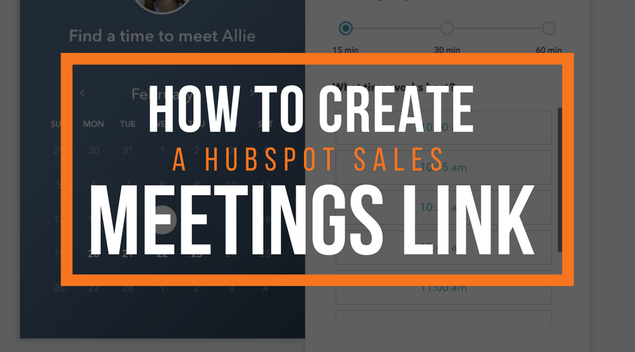 How To Create A HubSpot Sales Meeting Link