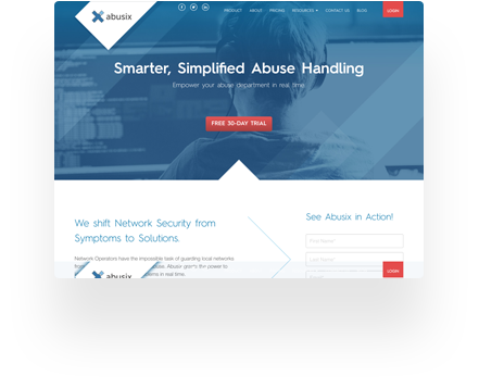 Abusix Website example